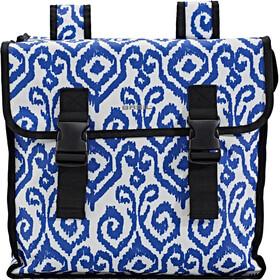 Basil Mara XL Luggage Pannier Double Bag L, 35l indigo ikat